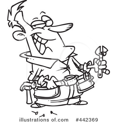 Handyman Clipart #442369 - Illustration by Ron Leishman