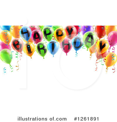 Party Balloons Clipart #1261891 by AtStockIllustration