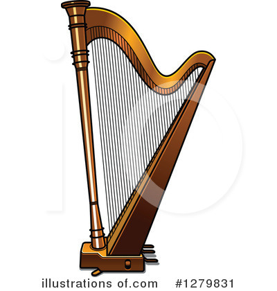Clip Art Harp Clipart harp clipart 1129438 illustration by colematt royalty free rf 1279831