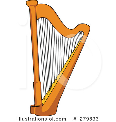Clip Art Harp Clipart harp clipart 1279831 illustration by vector tradition sm royalty free rf 1279833