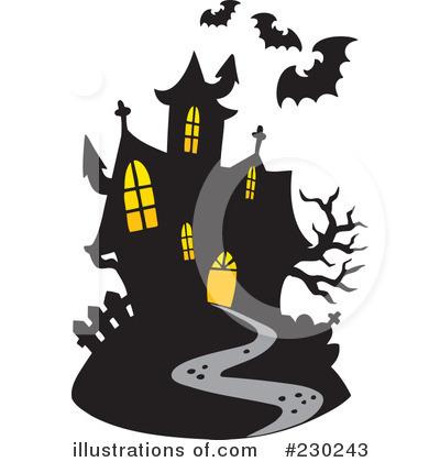 haunted house clipart 230243 illustration by visekart rh illustrationsof com halloween clip art haunted house clipart haunted halloween houses