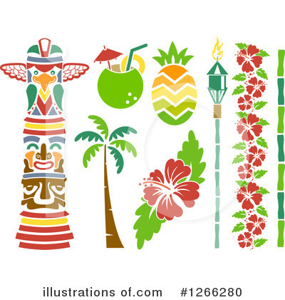 Palm Trees Clipart #1266280 by BNP Design Studio