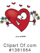 Heart Character Clipart #1381664 by toonaday