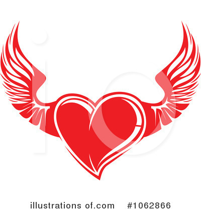 Winged Heart Clipart #1062866 by Vector Tradition SM
