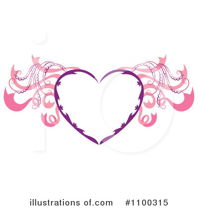 Winged Heart Clipart #1100315 by Cherie Reve