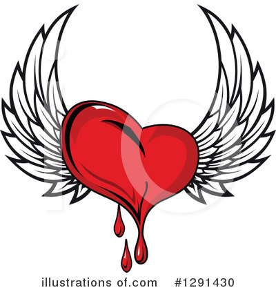 Winged Heart Clipart #1291430 by Vector Tradition SM