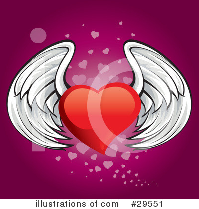 Winged Heart Clipart #29551 by Paulo Resende