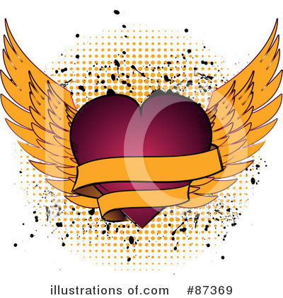 Winged Heart Clipart #87369 by elaineitalia
