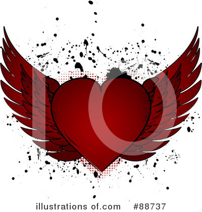 Winged Heart Clipart #88737 by elaineitalia