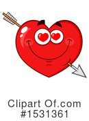 Heart Mascot Clipart #1531361 by Hit Toon
