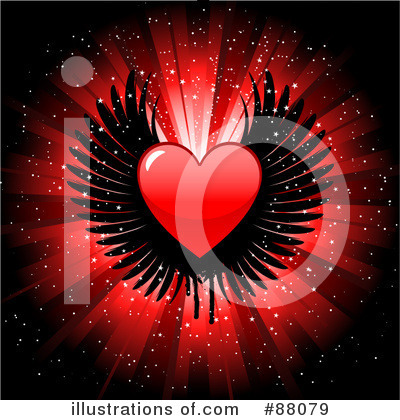 Winged Heart Clipart #88079 by KJ Pargeter