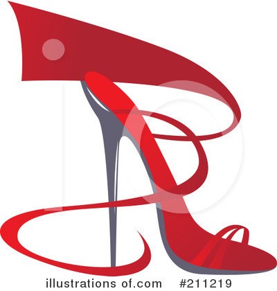 Royalty-Free (RF) High Heel Clipart Illustration by Eugene - Stock Sample #211219