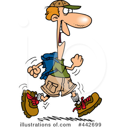 hiker clipart 442699 illustration by toonaday rh illustrationsof com mountain hiker clipart hiker clipart free