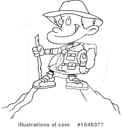 Royalty Free RF Hiking Clipart Illustration 1046377 By Toonaday