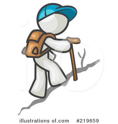 hiking clipart 219659 illustration by leo blanchette rh illustrationsof com female hiker clipart mountain hiker clipart