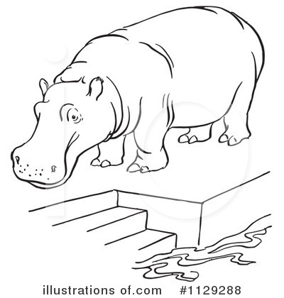 Black and White Hippo - Royalty Free Clipart Picture | Christmas presents  for dad, Clip art, Dad christmas