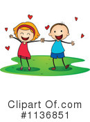 Holding Hands Clipart #1136851 by Graphics RF