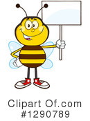 Honey Bee Clipart #1290789 by Hit Toon