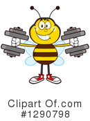 Honey Bee Clipart #1290798 by Hit Toon