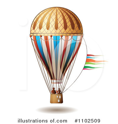 Hot Air Balloon Clipart #1102509 - Illustration by merlinul