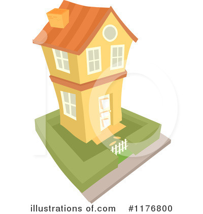 Royalty-Free (RF) House Clipart Illustration by BNP Design Studio - Stock Sample #1176800
