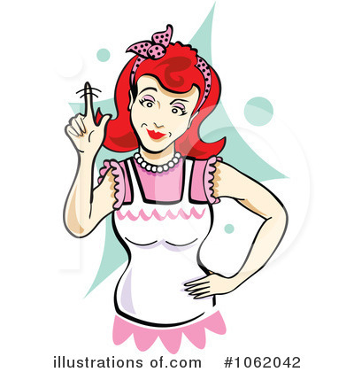 Housewife Clipart #1062042 - Illustration by Andy Nortnik