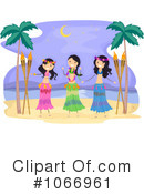 Hula Dancers Clipart #1066961 by BNP Design Studio