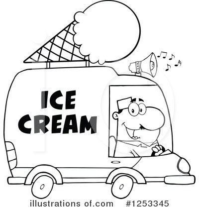 Ice Cream Truck Clipart #1253345 - Illustration By Hit Toon