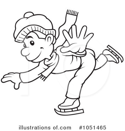 ice skating clipart #1051465 - illustrationdero