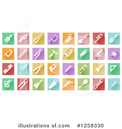 Icons Clipart #1258330 by AtStockIllustration