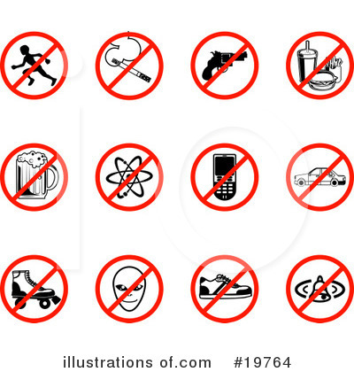 No Smoking Clipart #19764 by AtStockIllustration