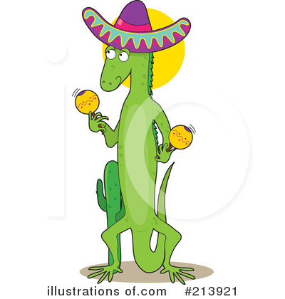 Iguana Clipart #213921 - Illustration by Maria Bell