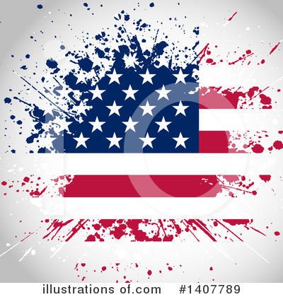 American Flag Clipart #1407789 by KJ Pargeter