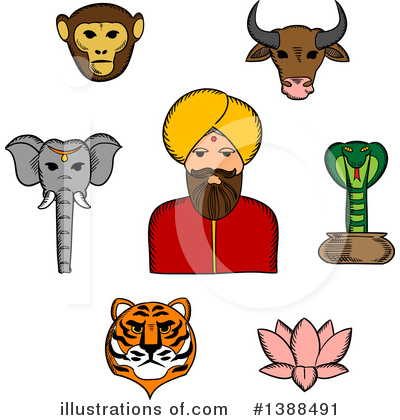 Indian Clipart #1388491 by Vector Tradition SM