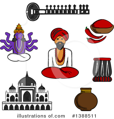 Indian Clipart #1388511 by Vector Tradition SM