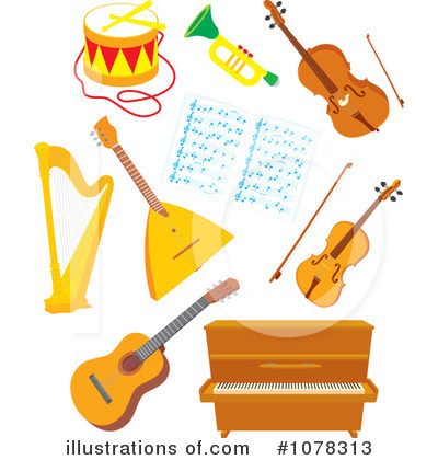 instruments clipart 1078313 illustration by alex bannykh rh illustrationsof com instrumental clip art clipart instruments musical