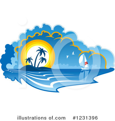 Sailboat Clipart #1231396 by Vector Tradition SM