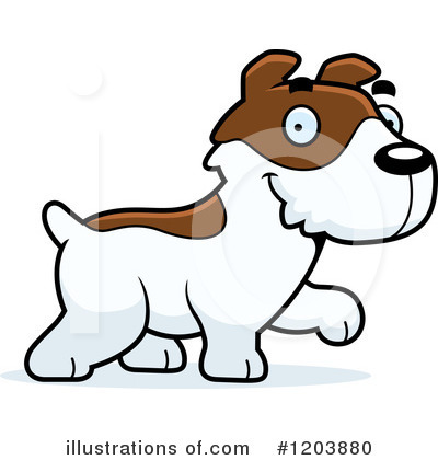 Jack Russell Terrier Clipart #1203880 by Cory Thoman