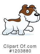 Jack Russell Terrier Clipart #1203883 - Illustration by Cory Thoman