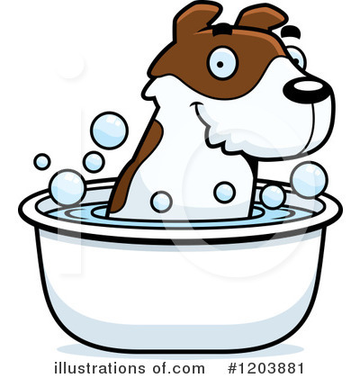 Jack Russell Terrier Clipart #1203881 by Cory Thoman