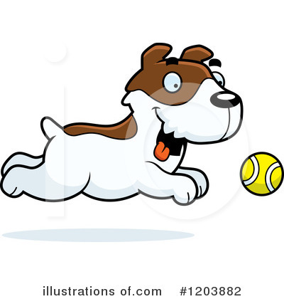 Jack Russell Terrier Clipart #1203882 by Cory Thoman