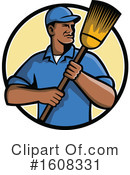 Janitor Clipart #1608331 by patrimonio