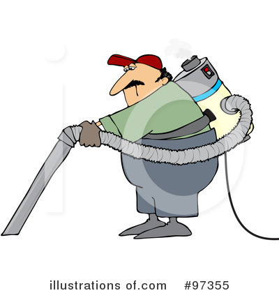 Janitor Clipart #97355 - Illustration by Dennis Cox