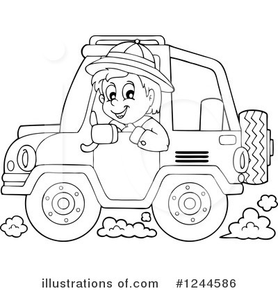 Jeep Clipart 1244586 Illustration By Visekart