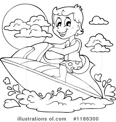 royalty free rf jet ski clipart illustration 1186300 by visekart