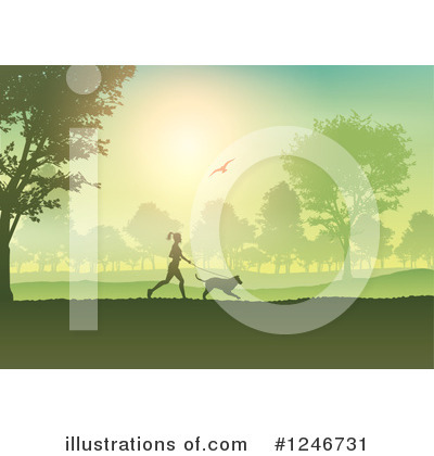 Royalty-Free (RF) Jogging Clipart Illustration by KJ Pargeter - Stock Sample #1246731