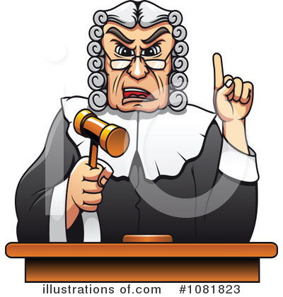 Judge Clipart #1081823 - Illustration by Vector Tradition SM