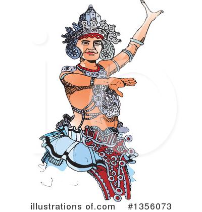 Kandyan Dancer Clipart #1356073 - Illustration by Lal Perera