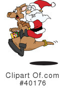 Kangaroo Clipart #40176 by Dennis Holmes Designs