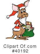 Kangaroo Clipart #40192 by Dennis Holmes Designs